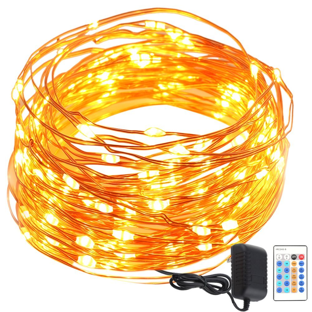 GDEALER Copper Wire 50ft 150LED Starry Fairy String Lights