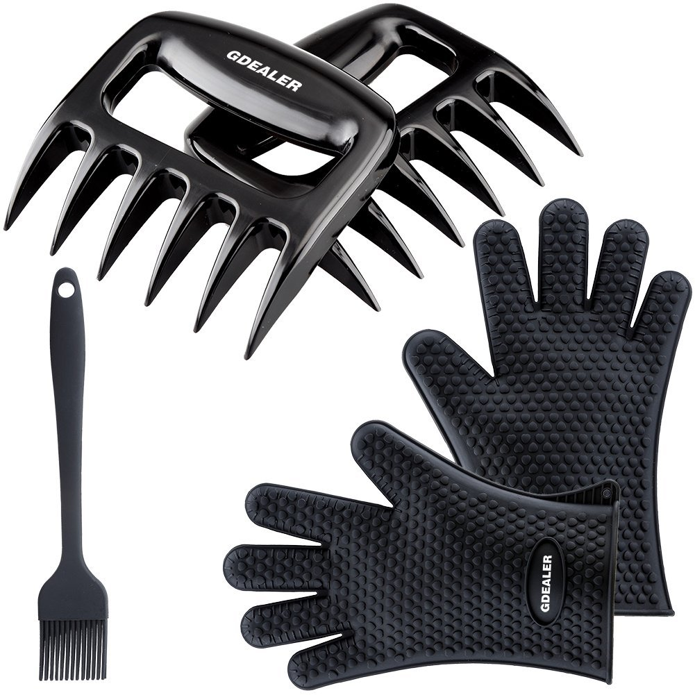 GDEALER Silicone Gloves - Meat Claws - Heat Resistant