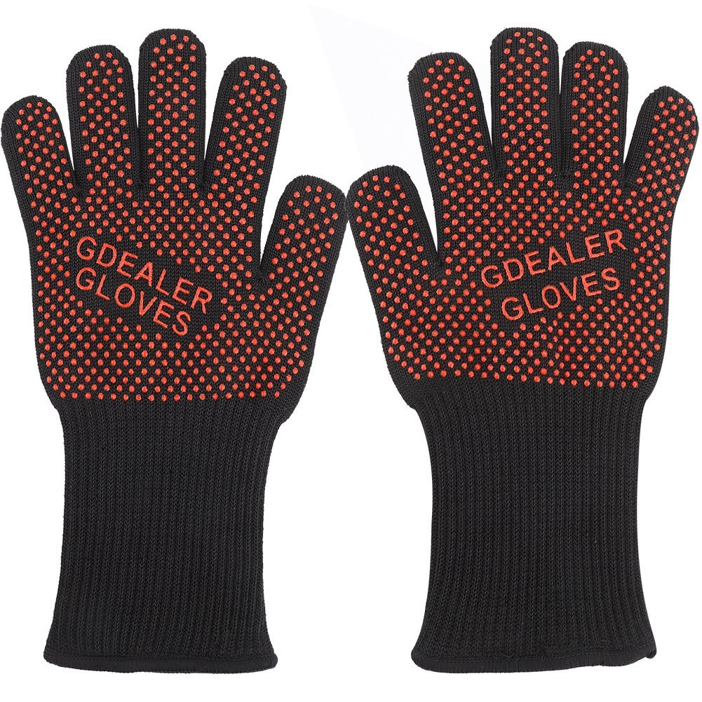 GDEALER 932°F Heat Resistant BBQ Grilling Cooking Gloves