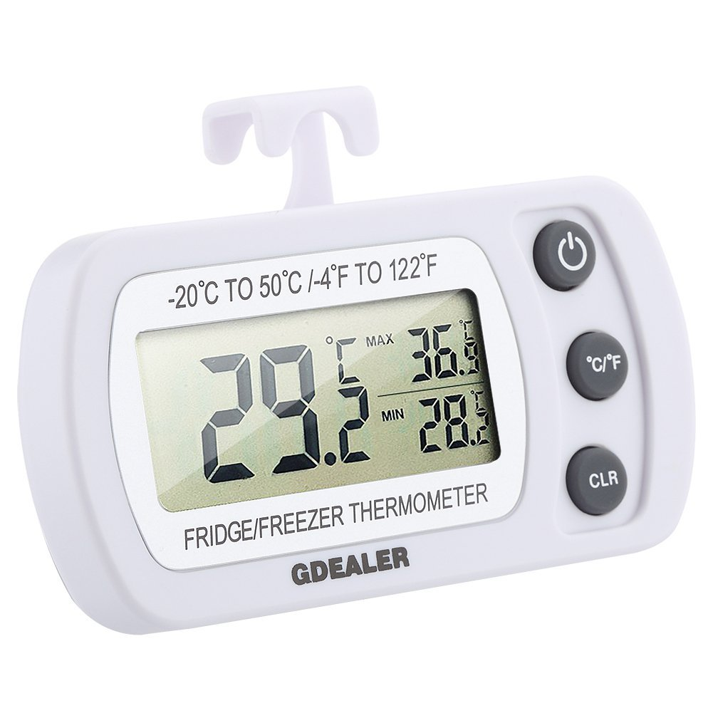 GDEALER Waterproof Digital Refrigerator Thermometer