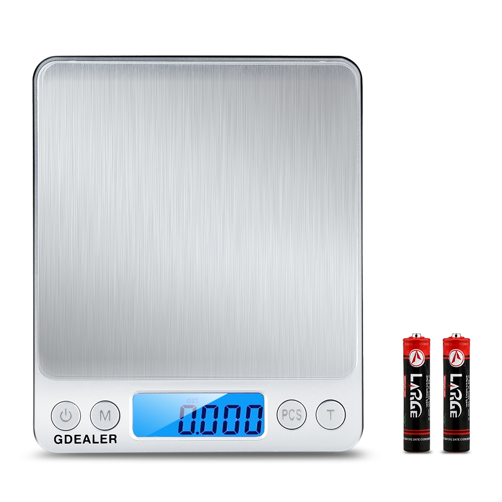 GDEALER Digital Pocket 0.001oz/0.01g 500g Kitchen Food Scale